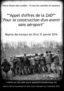 Appel d'offres de la ZAD